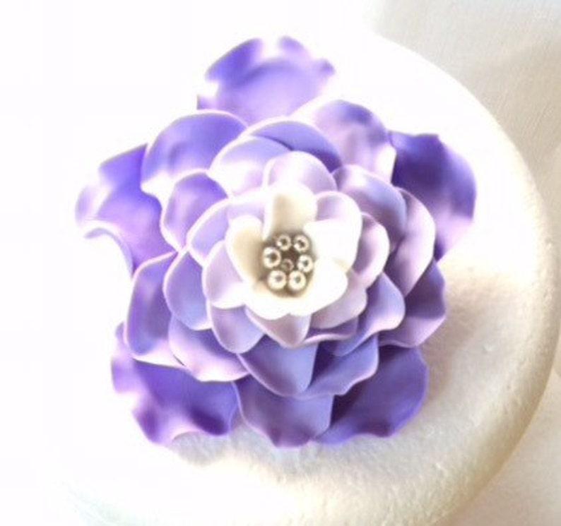 Essbare Blumen 3 Lavendelfondant Blumen Lila Weiß Silber Etsy