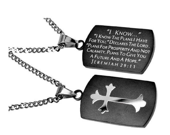 """Battle Cross Necklace """"I Know"""""""