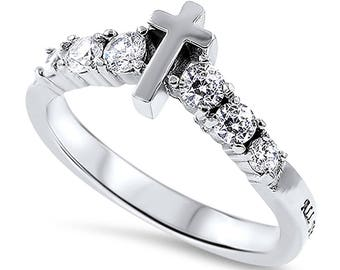 "Sola De Gloria Ring ""Christ My Strength"""