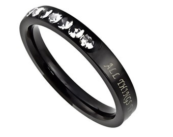 "Princess Ring ""Christ My Strength"""