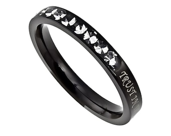"Ebony Beauty Ring ""Trust in the Lord"""