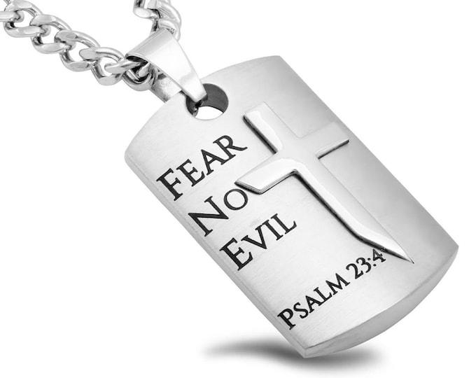 """Battle Shield Cross """"Fear No Evil"""""""