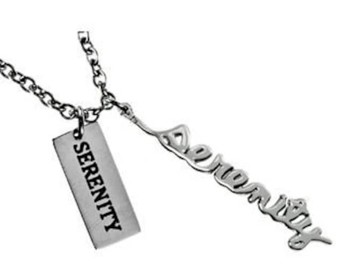 "Handwriting Necklace ""Serenity"""