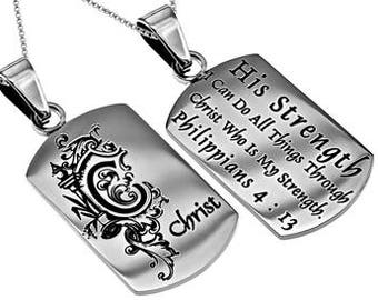 "Absolute Necklace ""His Strength"""