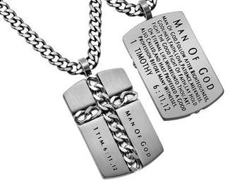 "Chain Cross ""Man Of God"""
