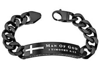 "Black Neo Bracelet ""Man Of God"""
