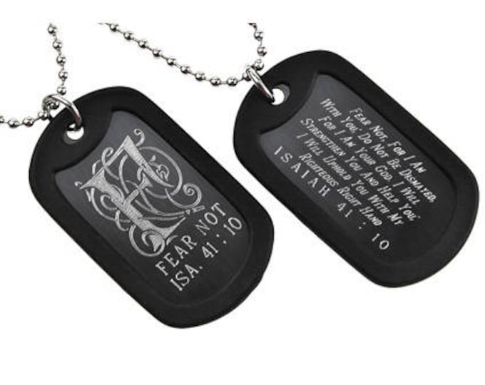 Fear Not - Dog Tag Necklace