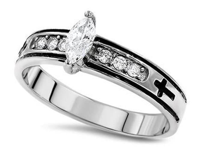 "Regent Marquis Ring ""True Love Waits"""