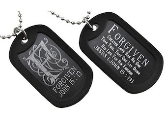Forgiven - Dog Tag Necklace