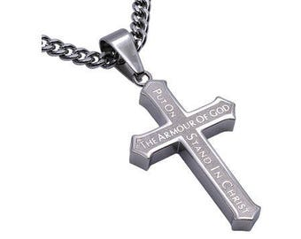 "Inlay Cross ""Armor of God"""