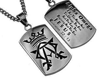 "Alpha Omega Dog Tag ""Alpha Omega"""