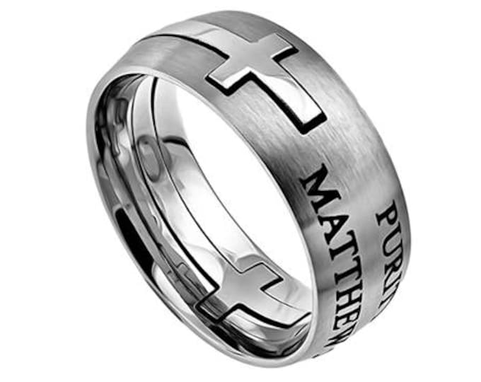"""Square Cross Ring """"Purity"""""""