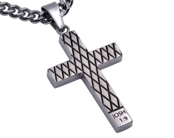 "Diamond Cross Necklace ""Courage"""