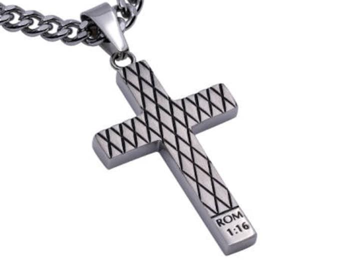 "Diamond Cross Necklace ""Unashamed"""