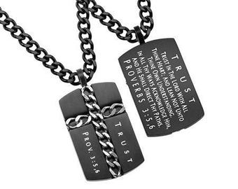 "Chain Cross Necklace ""Trust"""