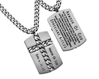 "Chain Cross ""Armour Of God"""