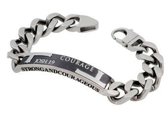 "Iron Cross Bracelet ""Courage"""