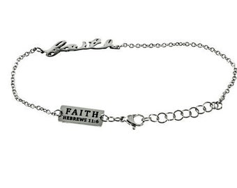 "Handwriting Bracelet ""Faith"""