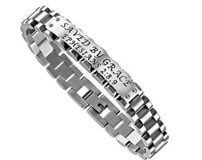 """GLX Bracelet """"Saved By Grace"""""""