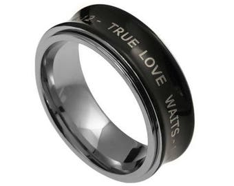 "Spinner Ring ""True Love Waits"""