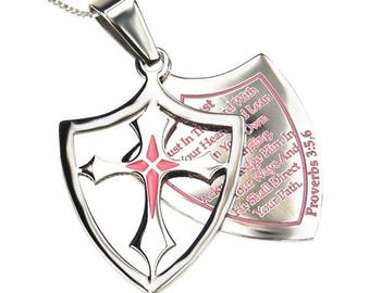 "2 Piece Shield Cross ""Trust"""