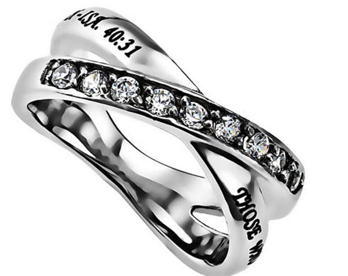 """Double Cross Ring """"Strength"""""""
