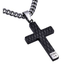 "Diamond Cross Necklace ""Courage"""