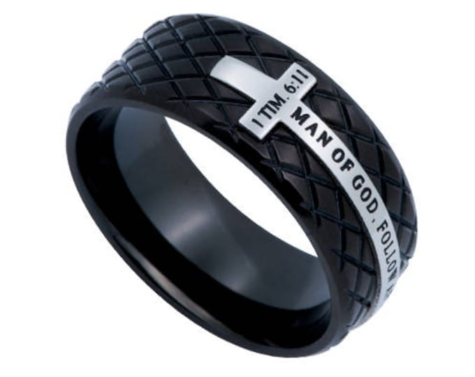 "Black Diamond Ring ""Man Of God"""