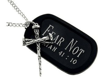"3 Nail Cross/Tag ""Fear Not"""