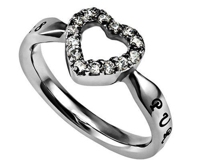 """Praise Heart Ring """"Purity"""""""
