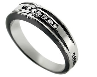 "CZ Channel Cross Ring ""Serenity"""