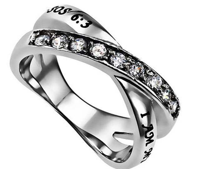"""Double Cross Ring """"Beloved"""""""