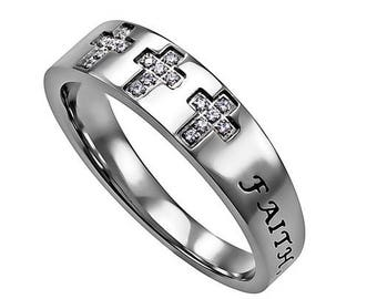"Calvary Ring ""Faith Hope Love"""