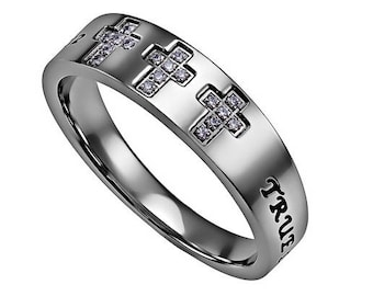 "Tri-Cross Ring ""True Love Waits"""