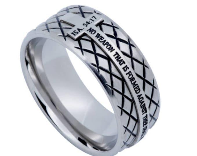 "Silver Diamond Ring ""No Weapon"""