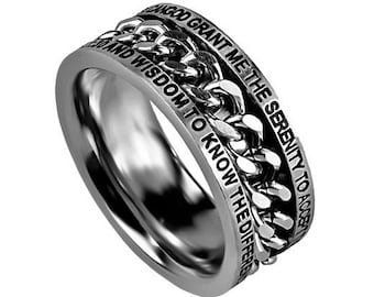"Chain Ring ""Serenity Prayer"""