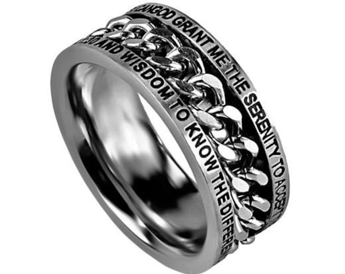"Chain Ring ""Serenity Prayer"""