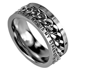 "Chain Ring ""His Strength"""