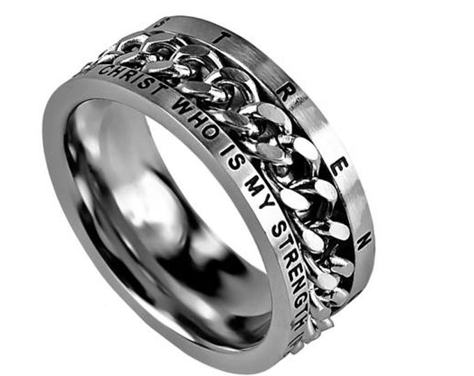 """Chain Ring """"His Strength"""""""