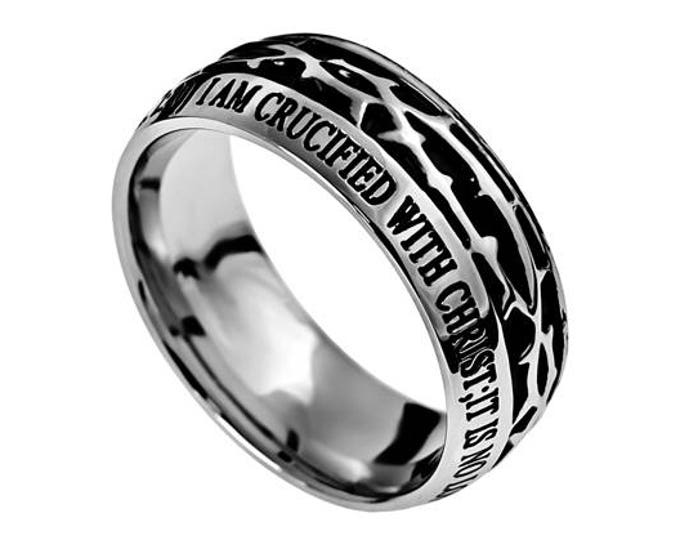 "Crown Of Thorns Ring ""Crucified"""