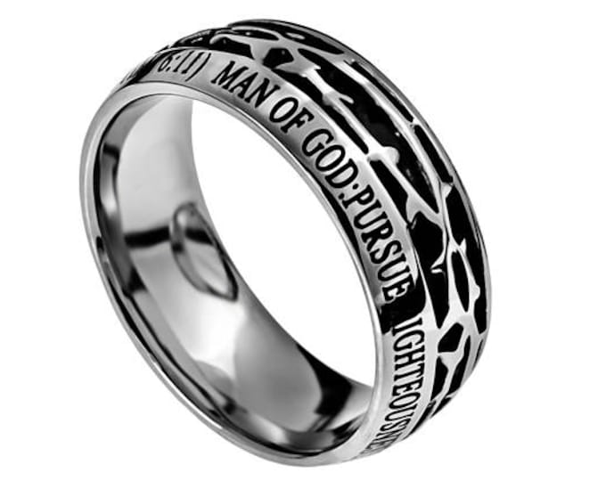 "Crown Of Thorns Ring ""Man Of God"""