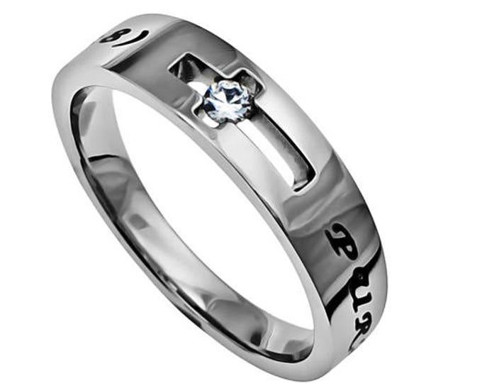 "Cut Cross Ring ""Purity"""