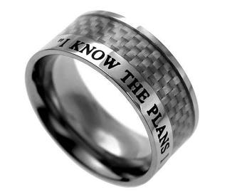 "Carbon Fiber Ring ""I Know"""