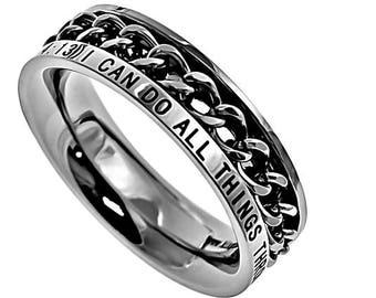 "Chain Ring ""Christ My Strength"""