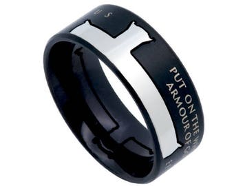 "Iron Cross Ring ""Armour Of God"""