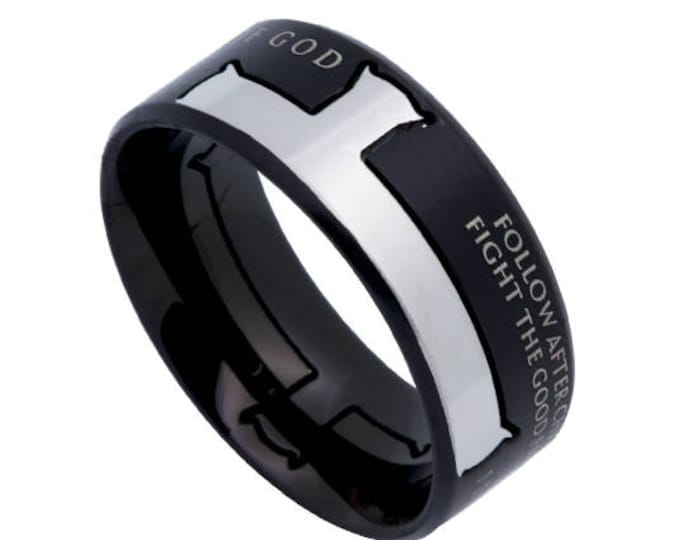 "Iron Cross Ring ""Man Of God"""