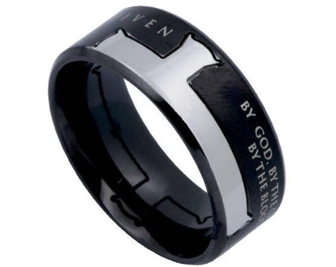 "Iron Cross Ring ""Forgiven"""