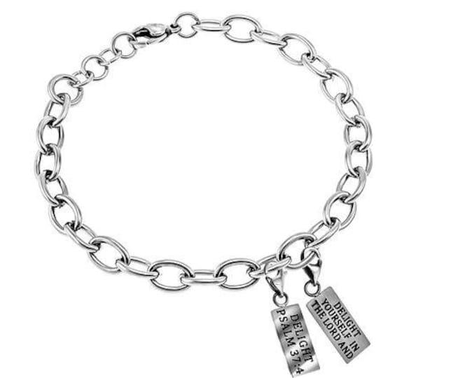 """Scripture Charm Bracelet """"Delight"""""""