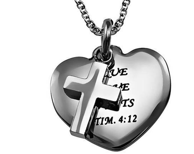 "Sweetheart Necklace ""True Love Waits"""