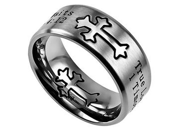 "Silver Neo Ring ""True Love Waits"""